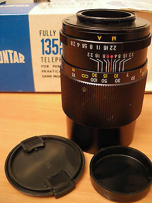 Suntar 135 mm f/2.8 vintage telephoto lens Made in Japan