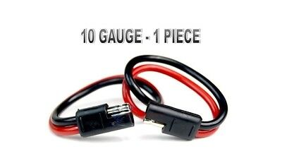 5 12 GAUGE QUICK DISCONNECT 2 PIN 10/'/' LEAD POLARIZED WIRE HARNESS AQK-12-12BG