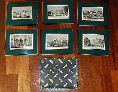 English Traditional Tablemats (hot pad or trivet) London Scenes set of 6