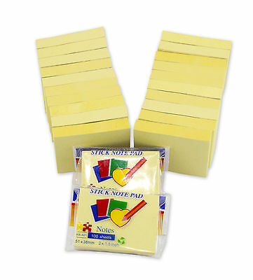 "2""x1.5"" Sticky Yellow Note for Home office 100 sheets/pad  22-Pad/Pack"
