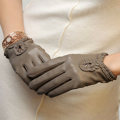 Ladies Woman Genuine Nappa Leather Drive Dress Unlined Gloves 6 Color On Sale 97
