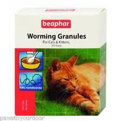 Beaphar Cat Kitten Wormer Granules Easy Worming 4 Sachet Pack