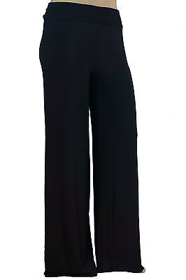 Stylzoo Women's True Plus Size Premium Soft Stretch Modal Palazzo Pants 1X 2X 3X