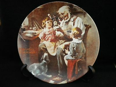 1977 Norman Rockwell Collector Plate THE TOY MAKER