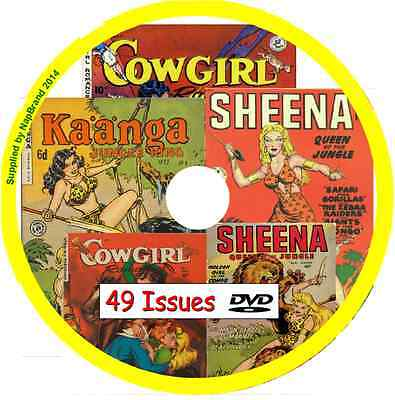 Sheena Queen of the Jungle, Cowgirl & Kaanga Comics on DVD 49 issues