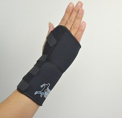 Wrist Support for Carpal Tunnel Adjustable Black Wrist Splint with Neoprene