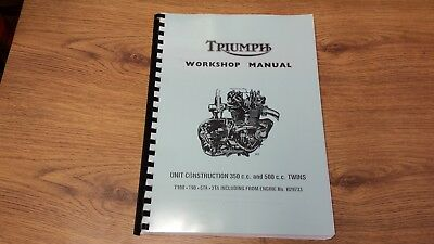 Triumph 5Ta 5Ta T100 T90 T100C Workshop Manual 1966-73 99-0843 & 99-0948 - Tw26
