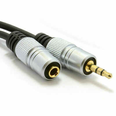 50cm Pro Audio Metal 3.5mm Jack Stereo Headphone Extension Lead Cable [007270]