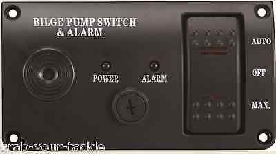Bilge Pump Switch Panel Auto/Off/Manual  Rocker Switch 12 volt with ALARM