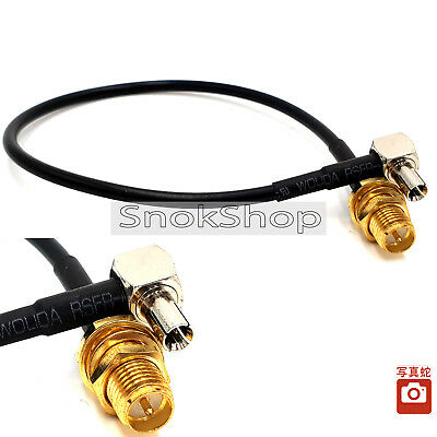 CABLE ADAPTER PIGTAIL RP- SMA FEMALE JACK TO TS9 MALE ADATTATORE CONNECTOR 20cm
