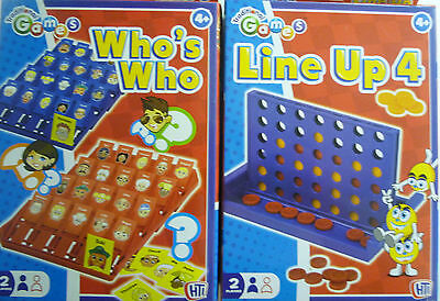 Traditional Games Compact Line Up 4 (Connect) or Who's Who (Guess Who) Boardgame