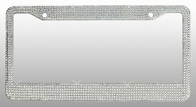 Crystal Clear License Plate Frame 7rows Special Bling Offer Including Screw Caps
