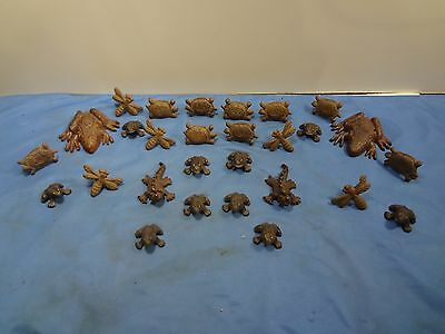 28pc Cast Iron Animal Collection - Frogs, Dragon Flies, Lizards, Turtles