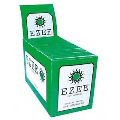 Ezee Green/Red Standard Cigarette Rolling Papers - Various Variations By Etrendz