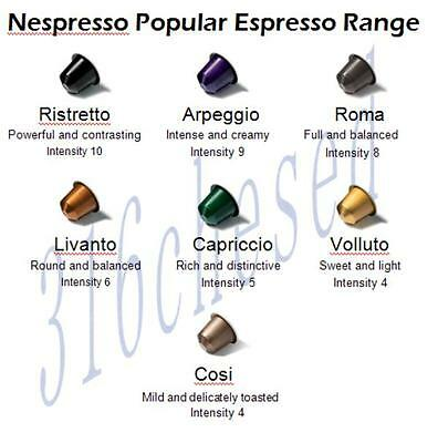 5 x 10  Nespresso Capsules - Choose your own flavor from the popular range