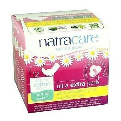 NATRACARE  Ultra Extra Pads Normal 12s (Pack of 2)