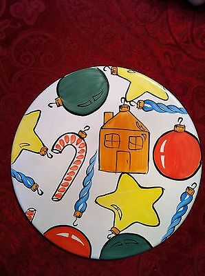 "Herend Village Pottery ""Old Fashioned Christmas"" Trivet"