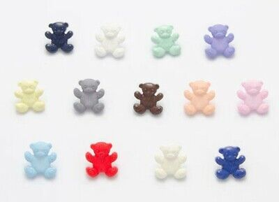 Lot de 6 x Boutons Ourson 14mm  Mercerie Layette Enfant