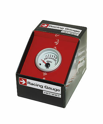 Sumex Branded 52mm Diameter 12V Car Oil Pressure Gauge Race Dial - Satin Silver