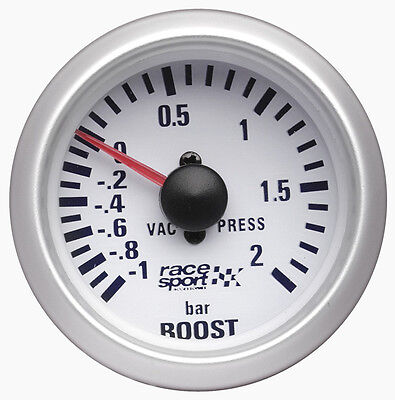 Sumex 52mm Diameter 12V Car Turbo Boost Pressure Gauge Race Dial - Satin Silver