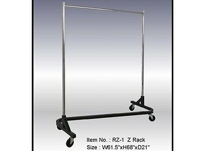Single Hangrail Rolling Rack - Square Tubing #RK-RZ/1KD