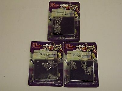 25MM RAFM FANTASY , ORC HEAVY INFANTRY WITH PIKES  X  3
