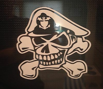 US Coast Guard Chief Petty Officer Skull And Cross Bones Decal, CPO , SCPO, MCPO