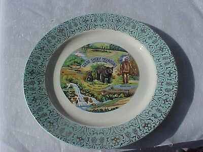 Vintage 1950's Great Smoky Mountains NATIONAL PARK. Souvineer Plate