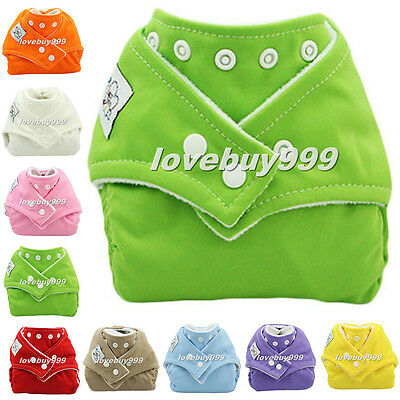 New Baby Reusable Cloth Diaper Nappy Insert 9 Colors Size Adjustable Waterproof
