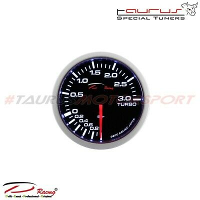 Manometro Pressione Turbo Turbina -1+3 -1 + 3 bar tuning DEPO Racing Nero Diesel