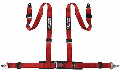 Sumex Race Sport Brand 4 Point Safety Track Car Racing Seat Belt Harness - Red