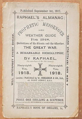 Raphael's Almanac Or Prophetic Messenger & Weather Guide For 1918