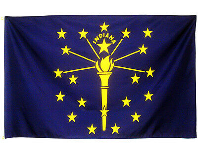 Fahne Indiana Querformat 90 x 150 cm U.S.A. Hiss Flagge Bundesstaat USA