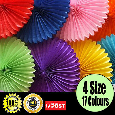 tissue paper fans pompoms for party wedding Party baby room decoration Brand New