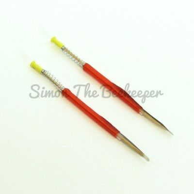 2 x Beekeeping CHINESE QUEEN REARING GRAFTING TOOLS - Retractable end