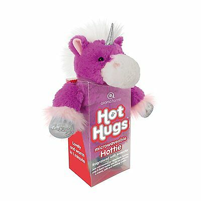 Aroma Home Hot Hugs Hottie UNICORN Soft Toy With Lavender Microwavable Tummy