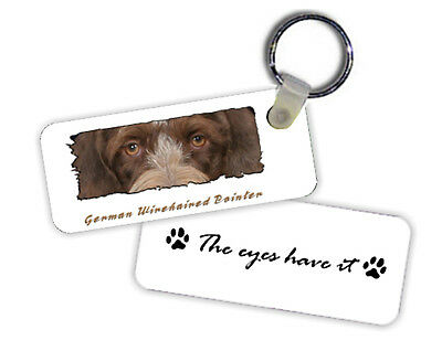 German  Wirehaired  Pointer    The  Eyes Have It   Key  Chain