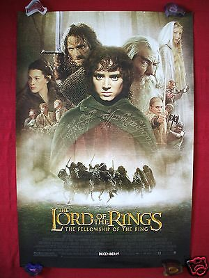 Lord Of The Rings * 2001 Original Movie Poster 1Sh D/S Fellowship Style D Nm-M