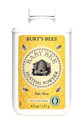 Burt`s Bees Baby Bee Dusting Powder Talc Free, 4.5-Ounce (Pack of 3) , New, Free