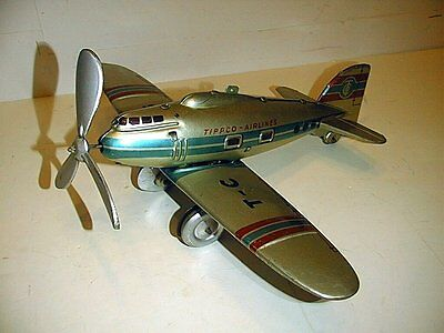 Tippco Airlines With Retractable Land Gear Wind-Up Works Good All Made In German