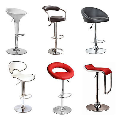 Faux Leather Kitchen Breakfast Bar Stool Pub Barstools Swivel Pu New Stools Seat