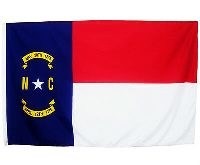Fahne North Carolina Querformat 90 x 150 cm U.S.A. Hiss Flagge Bundesstaat USA