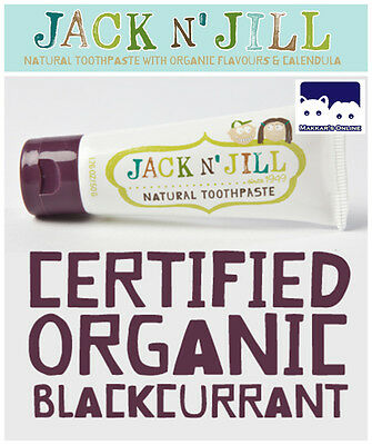 Jack N' Jill NATURAL CALENDULA Toothpaste (Certified Organic) - Blackcurrant