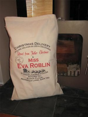 Personalised Christmas Cotton Santa Sacks, Stocking - Large 75 x 50cm