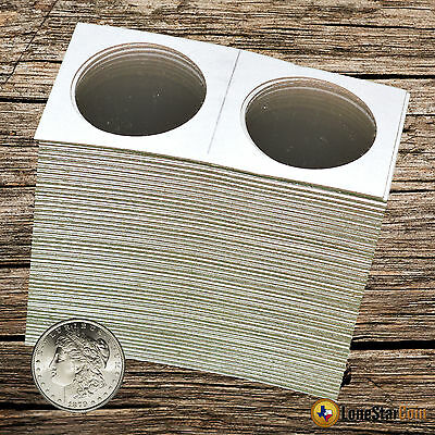 100 - Cowens 2x2 SILVER DOLLAR Mylar Cardboard Coin Holder Flips - Large Dollar