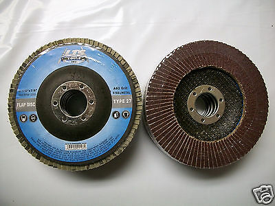 "4-1/2"" x 7/8"" Flap Disc 80 Grit Type 27 AO Professional Grade - You Choose Qty"