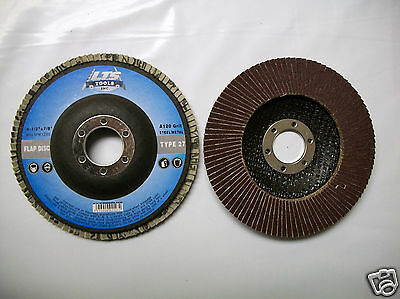 "4-1/2"" x 7/8"" Flap Disc 120 Grit Type 27 AO Professional Grade - You Choose Qty"