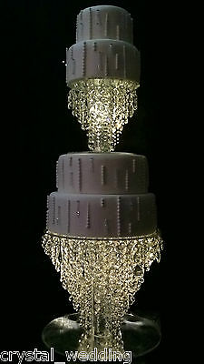 "Chandelier cake stand  Crystal cake stand for wedding in 6"" to 20"" round /square"