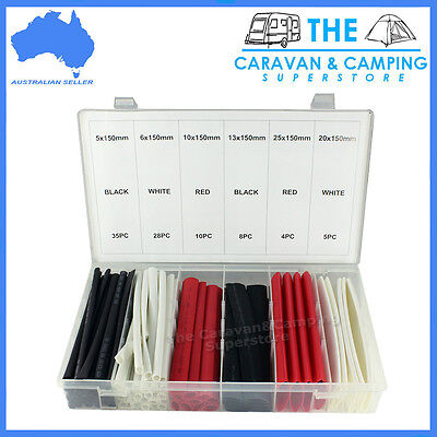 HEAT SHRINK TUBE kit 90 pc suitable for boats cars 4wd caravans NEW electric