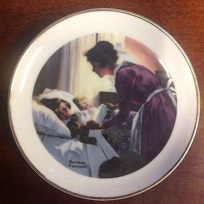 """Vintage Norman Rockwell 6.5"""" Plate """"Mother's Love"""""""
